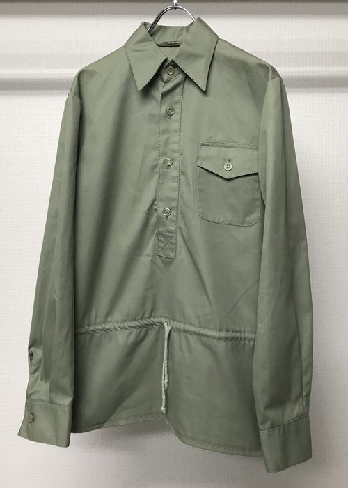 1950s PULLOVER SHIRT WITH DRAWSTRING