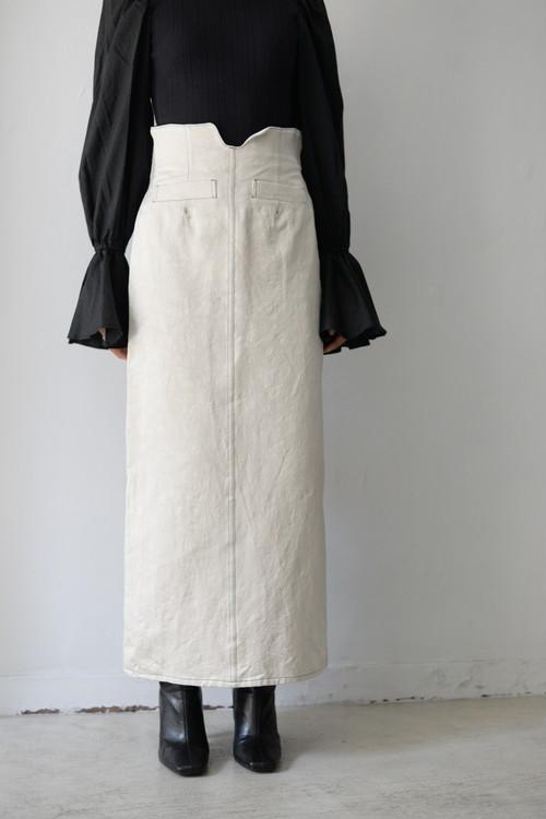 YOHEI OHNO / high waist skirt (white)