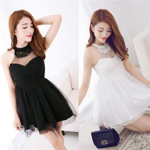 ゴシックロリ系♪白黒両色あり可愛いチュチュドレス