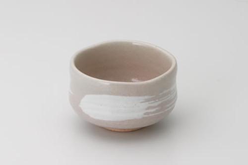 抹茶碗 桜土刷毛目