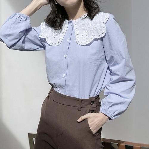 crochet collar blouse 2c's