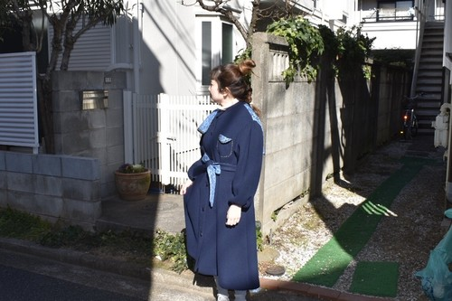 梨凛花~rinrinka~ blue calm race coat