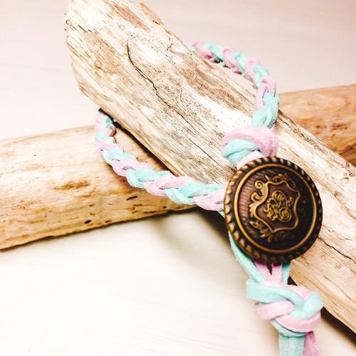 Concho bracelet (Emerald × Purple)