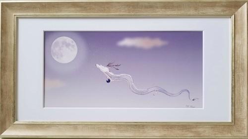 【期間限定】『満月に昇る白龍』画家 月鐘たえ