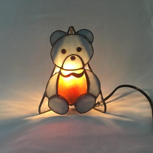 【E4】 クマさんランプ 100mmx70mmx150mm