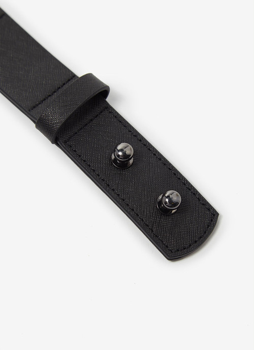 LEATHER BELT WITH NO BUCKLE