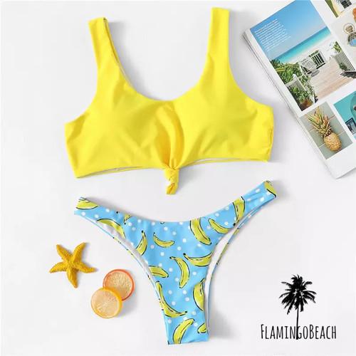 【FlamingoBeach】banana Brazilian bikini バナナ柄 ビキニ