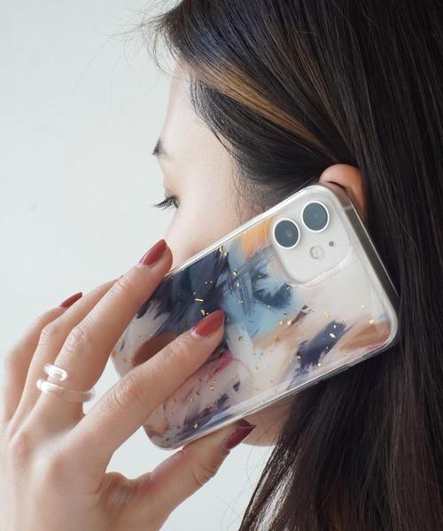 〈スマホケース〉ニュアンス マーブル 水彩画風 iPhoneケース