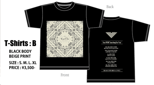 【Eins:Vier / Tour2018 Searching For Youオフィシャル】TEE Type B
