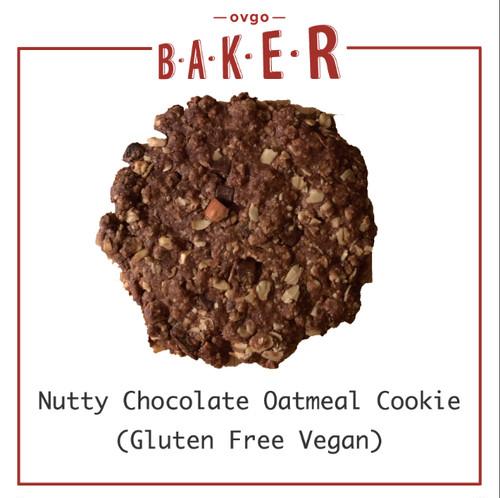 3枚入ナッティチョコレートオートミール(グルテンフリー/ヴィーガンクッキー)