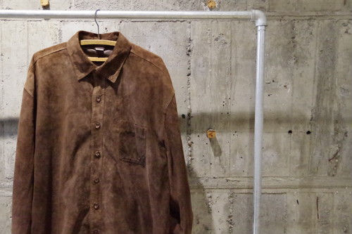 Suede leather shirt(USED)