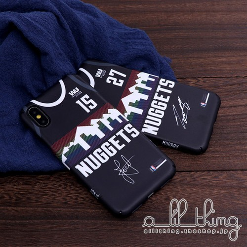 「NBA」デンバー ナゲッツ 2019-20シーズン シティエディション ユニフォーム 二コラヨキッチ ジャマールマレー サイン入り iPhone11 iPhoneXS ケース