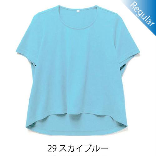 半袖丸首Tシャツ / 29スカイブルー / 身長152cm→142cm / アイラブグランマ・スムースネック / 型番TC02-152