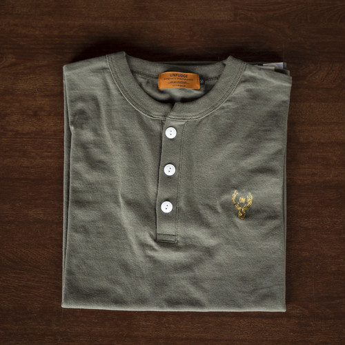unfudge HENLEY NECK T-SHORTS / ARMY
