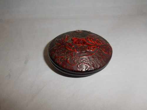 漆香合 lacquer ware box with cover(N06)