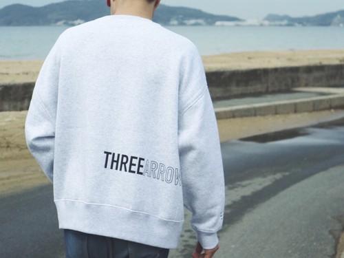 ThreeArrows BIGシルエット スウェット(gray)