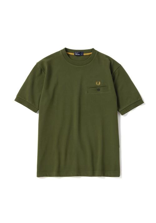 FRED PERRY (フレッドペリー) Pique T-Shirt ピケTシャツ オリーブ F1674