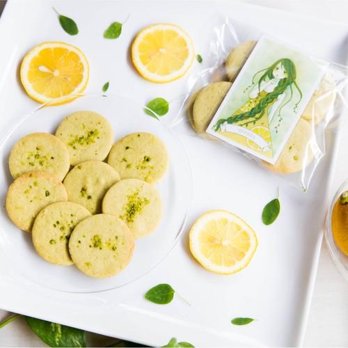 【知性の女神 SOPHIA】レモン&ピスタチオクッキー 袋入り・女神のメッセージカード付