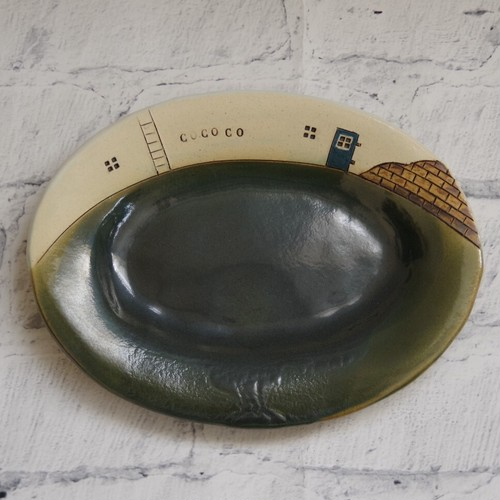 やちむん【ヨコイ マサシ】ミニオーバル皿