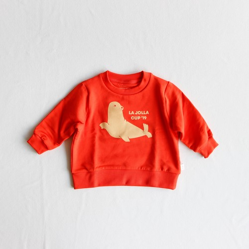 《TINYCOTTONS 2019AW》SEAL SWEATSHIRT / red × sand