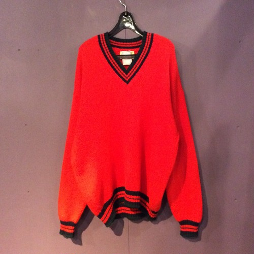 80's  red tilden sweater [B1353]