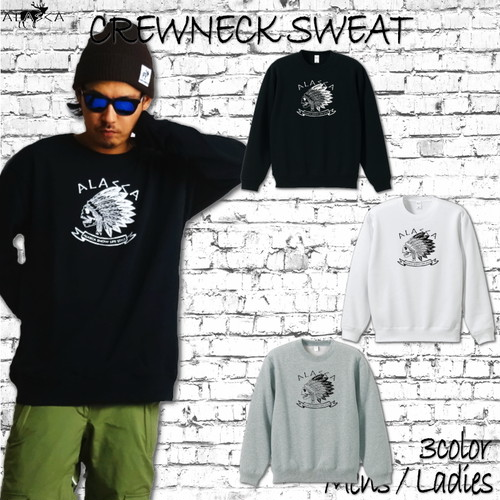 ALASKA CREWNECK SWEAT indy as-18