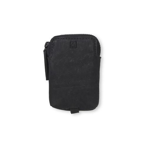 VEGAN MINI KEY CASE - BLACK / キーケース 黒 コルク製