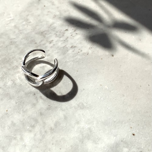 Wire Cross Ring_Silver925