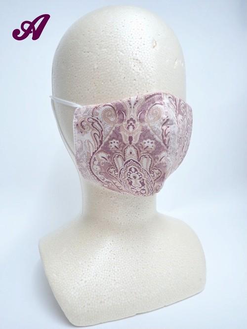 冷感 夏用 バロック立体布マスク ピンク