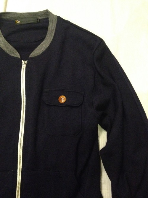 Wool Knit Light Blouson(Re made in tokyo japan)
