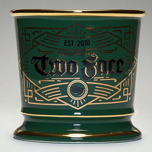 TWOFACE 雙面理髪館 シェービングマグ レタリングシングルカップ グリーンxゴールド