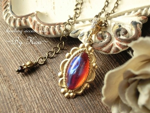 ~§:Decorative:§~ vintage dragon's breath ネックレス。