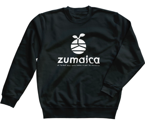 zumaica トレーナー Black【Whiteロゴ】