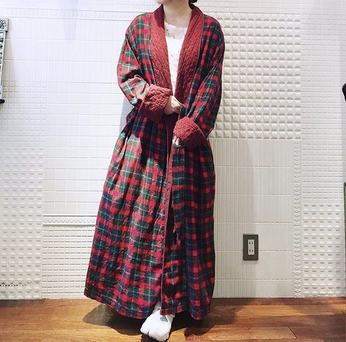 Vintage check long gown.