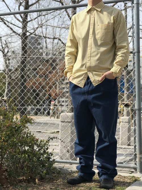 【TOMMY HILFIGER】Striped long-sleeved shirt