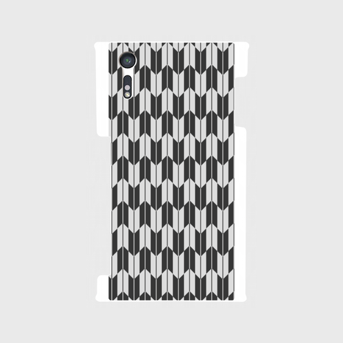 Xperia XZ SO-01J/SOV34/601SO 裏面スマホケース 矢絣A(MMD-RWSO1J-T003GR1)