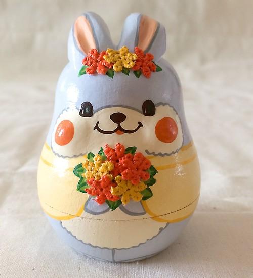 木製・マトリョーシカ小物入れ(ウサギ)