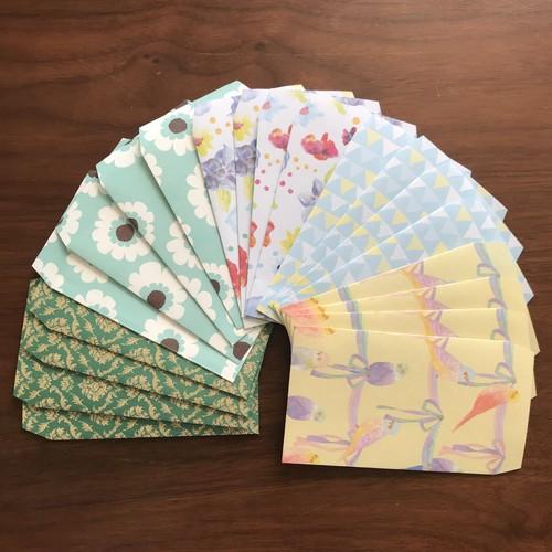 インコ柄☆ハンドメイドポチ袋 20枚セット お年玉袋に!