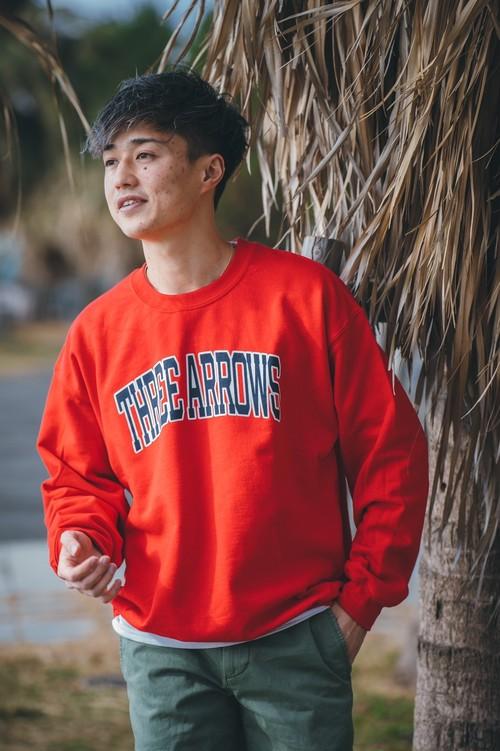 THREEARROWS College LOGO SWEAT(red)