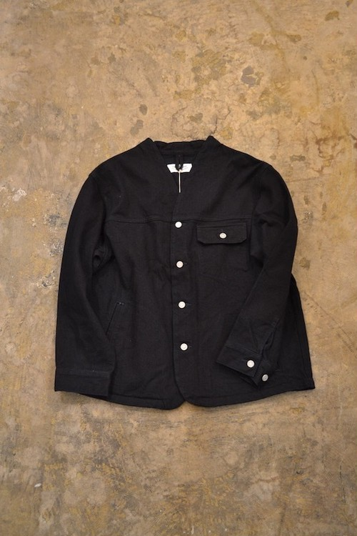 roundabout / Denim Shawl Collar Jacket