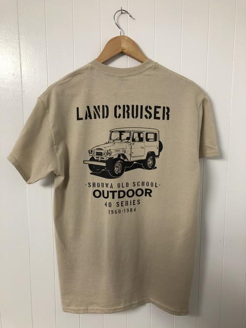 ランドクルーザー ランクル-40 Tシャツ / サンド×ブラック