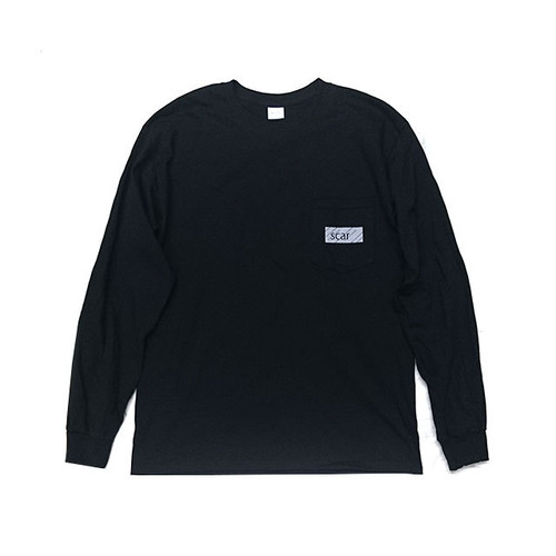 scar /////// BLACKBOX POCKET L/S TEE (Black)