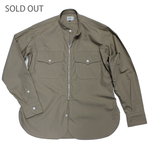 AL ZIP BAND COLLAR SHIRT