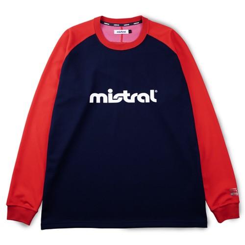 ミストラル ユニセックス [ HP-DRY(ハイドロフォビックドライ) ロングスリーブTシャツ ] NAVY/RED