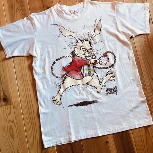 ANDAZIA Alice in wonderland ウサギ T-shirt ワンオッシュ