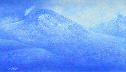 高瀬忠一「茶臼岳」油彩画 M6号