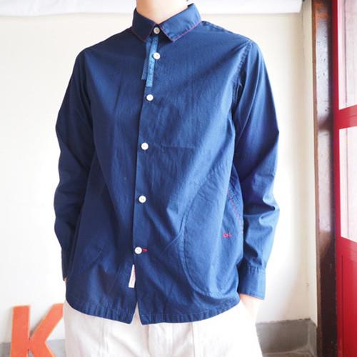 クラフトシャツ 手刺しステッチUNIシャツ  01S27G サイズ2,3