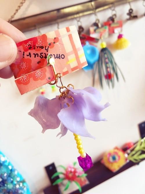 お花イヤリング