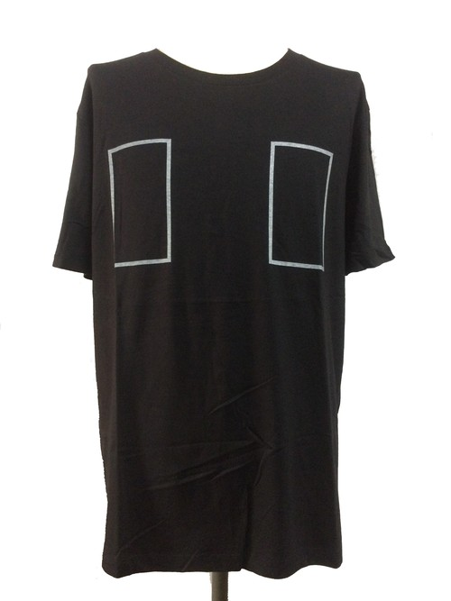 RECTANGLE SHORT SLEEVES -BLACK-