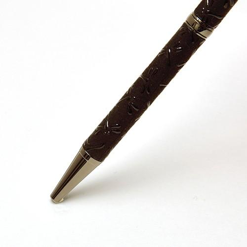 印伝油性ボールペン とんぼ 黒革×黒漆